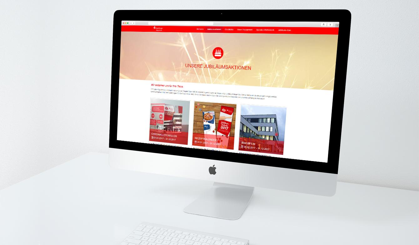 Website mit Spendenwettbewerb der Sparkasse Lippstadt