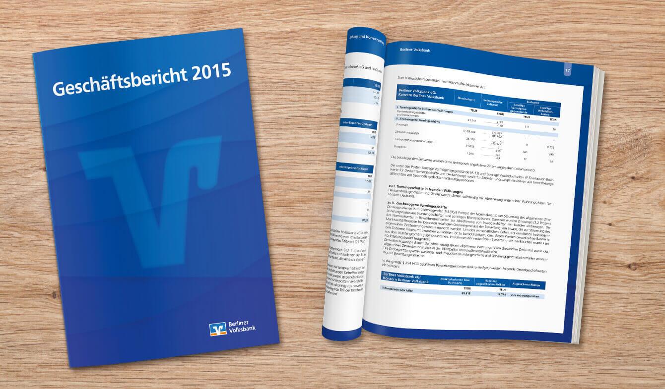 Berliner Volksbank-Jahresbericht Klassik