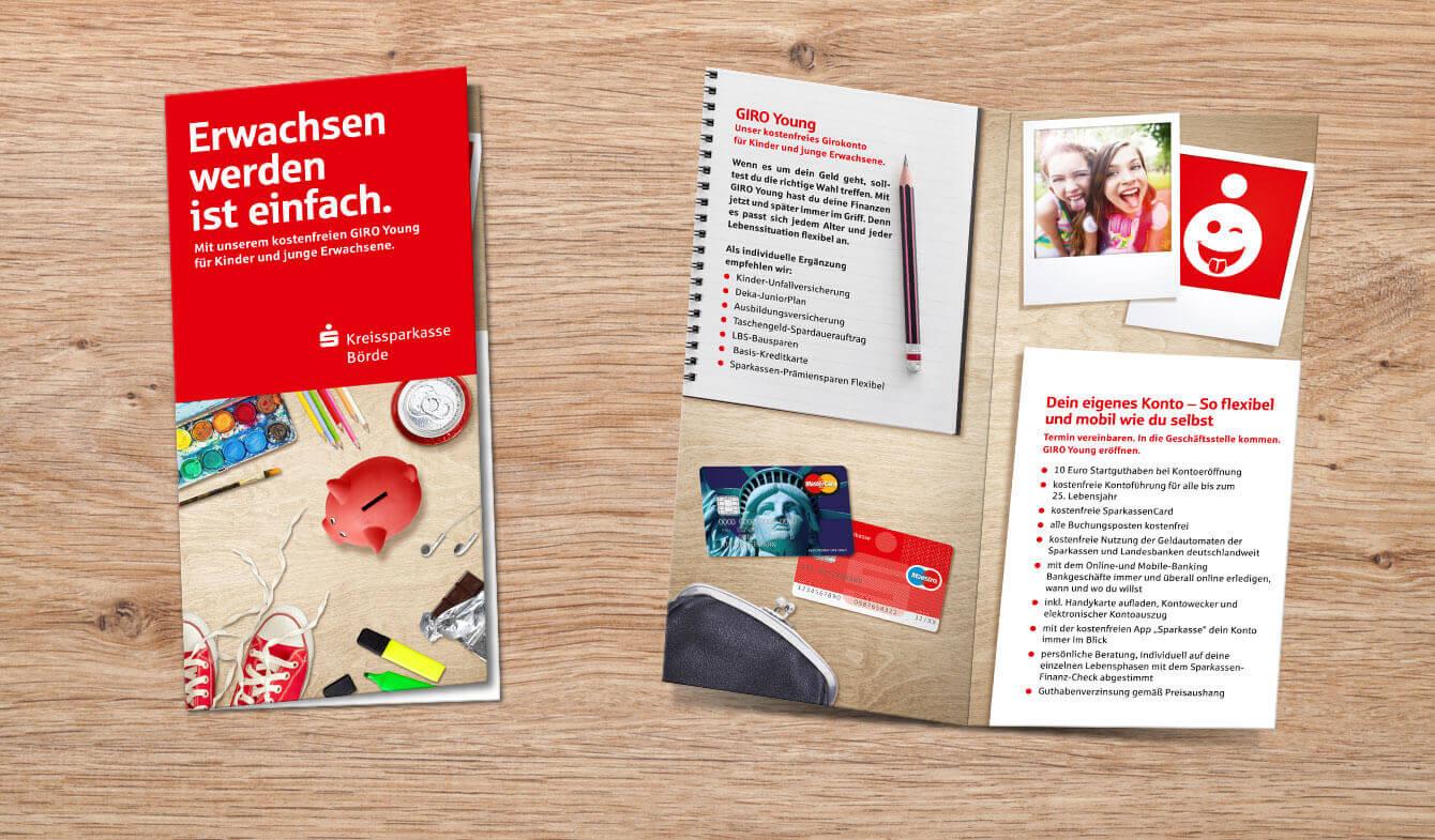 Flyer und Kontoausstattung Jugendmarkt: So hinterlassen Sie bleibenden Eindruck.