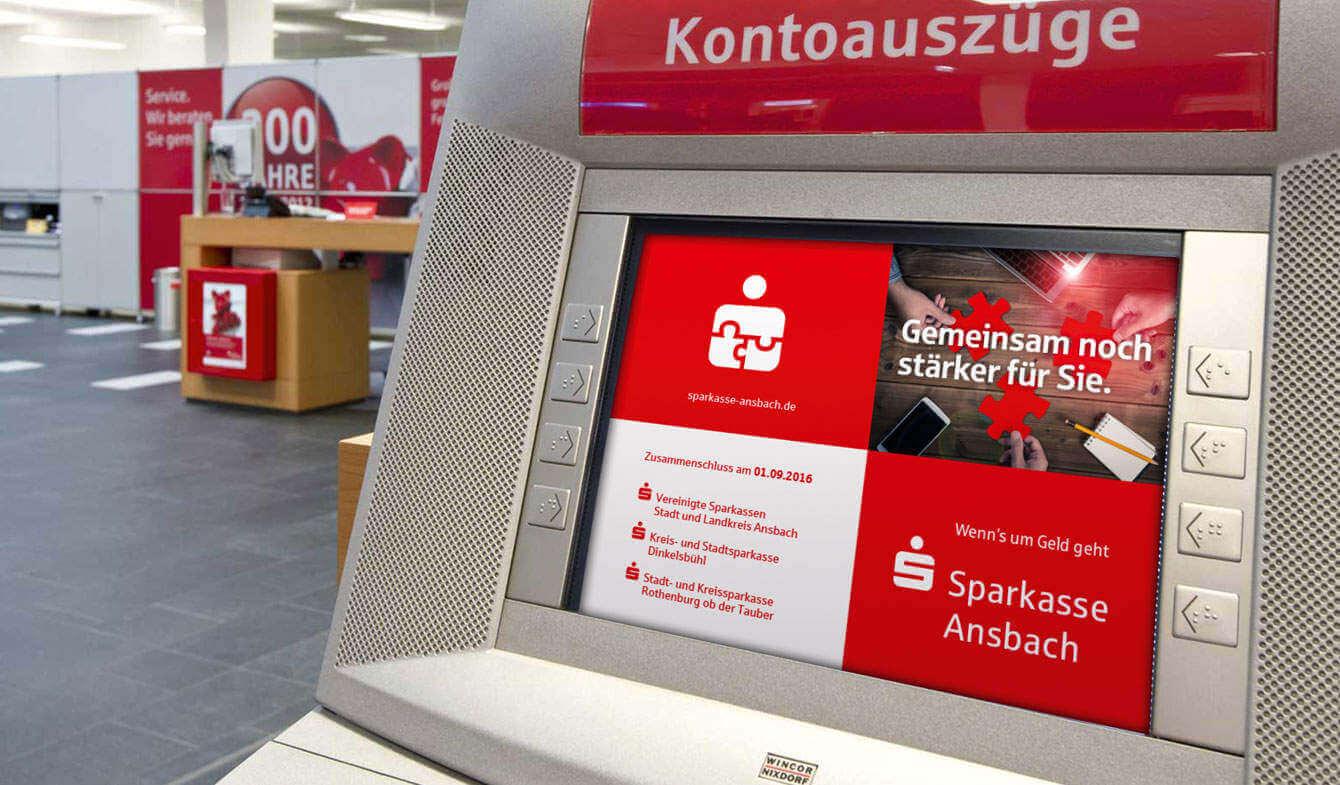 Fusionskommunikation der Sparkasse Ansbach