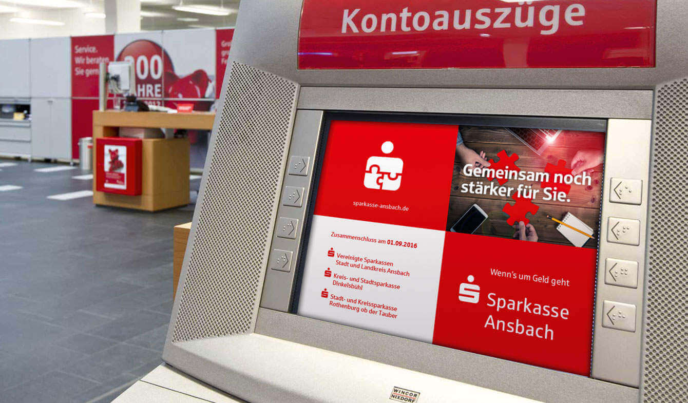 Fusionskommunikation: Sparkasse Ansbach