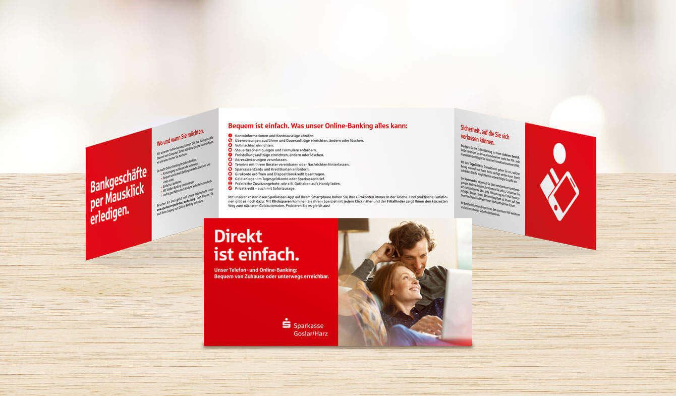 Flyer: Telefon- und Onlinebanking