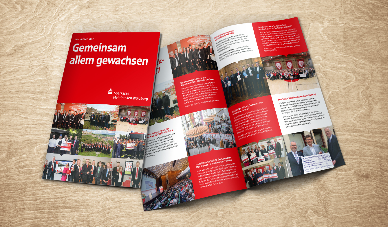 Jahresbericht Klassik: Wir passen Ihre Inhalte an ein hochwertiges Design an.