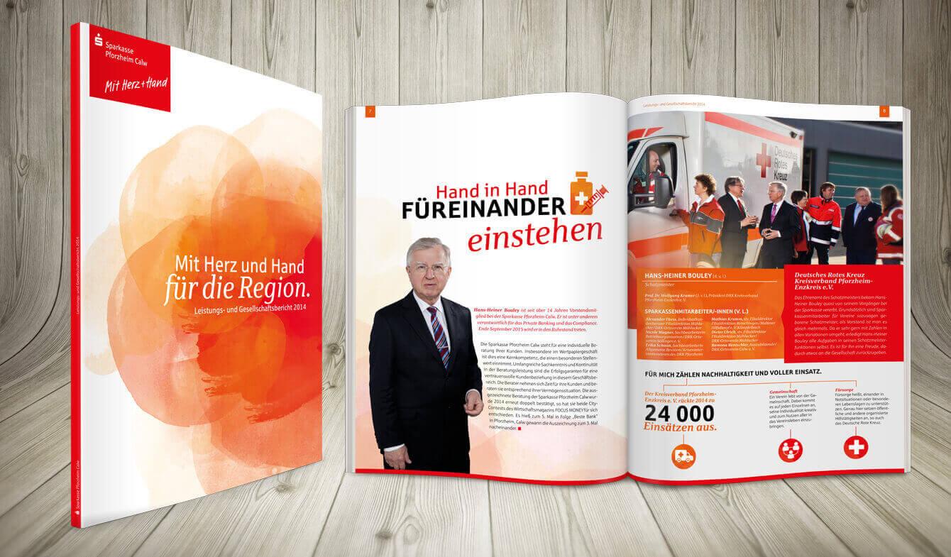 Premium Jahresbericht, Sparkasse Pforzheim Calw
