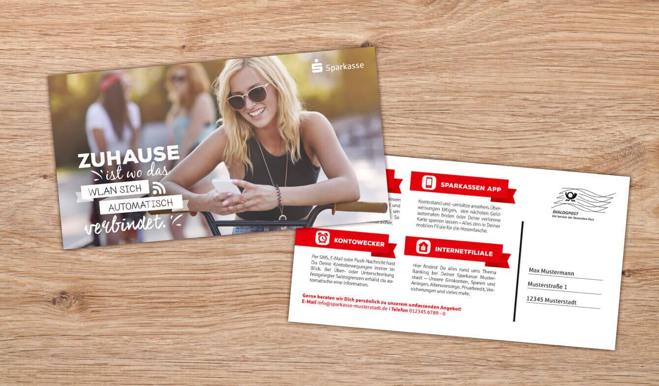 Maxipostkarte Multikanal - Motiv Jugendliche