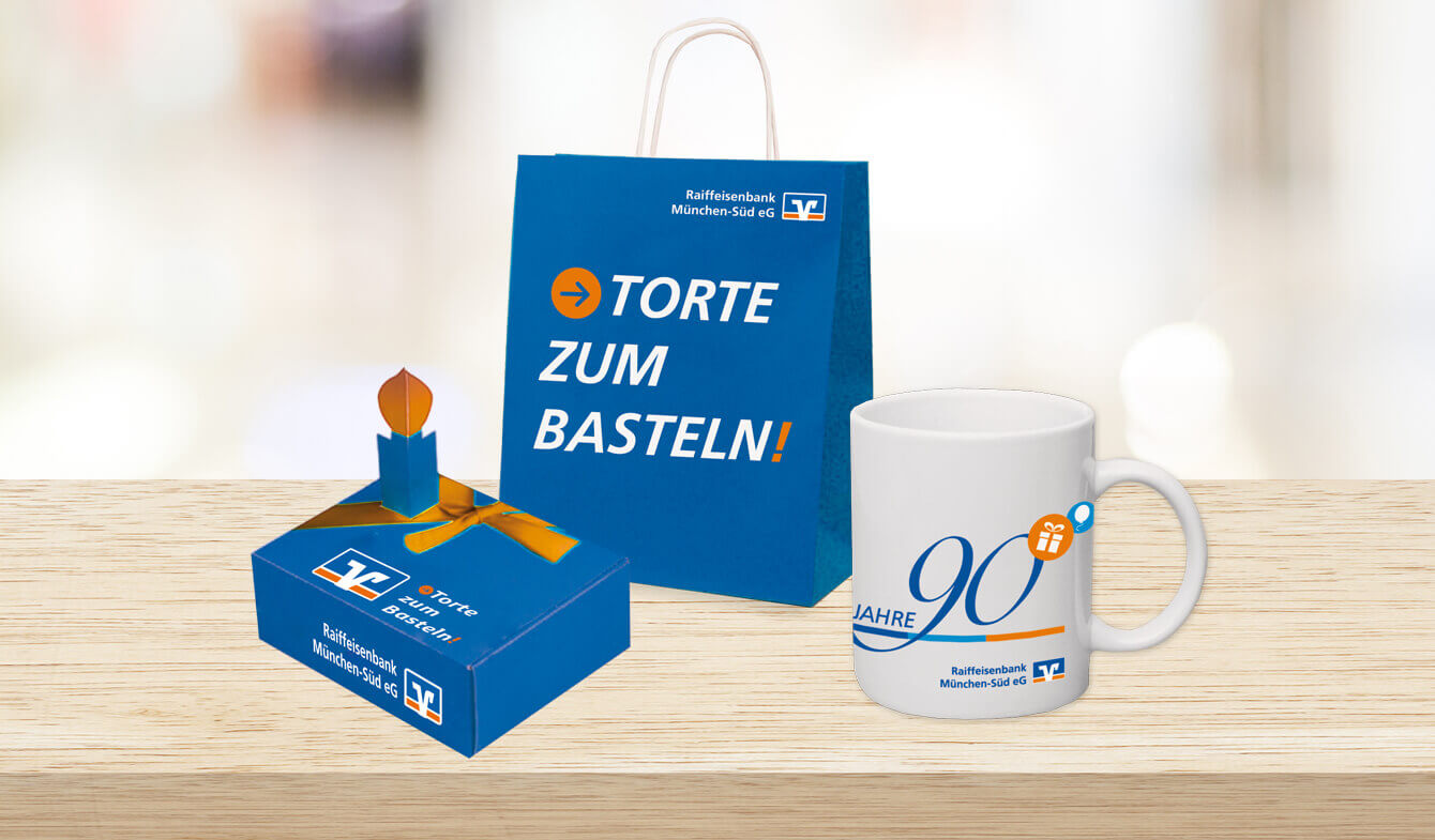 Raiffeisenbank München Süd eG: Give-Aways