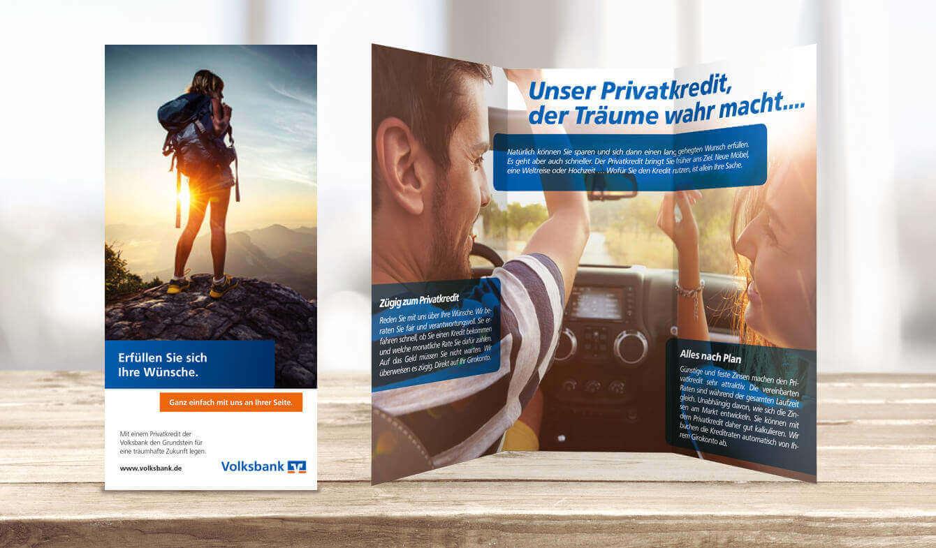 Flyer: Privatkredit, Genossenschaftsbanken