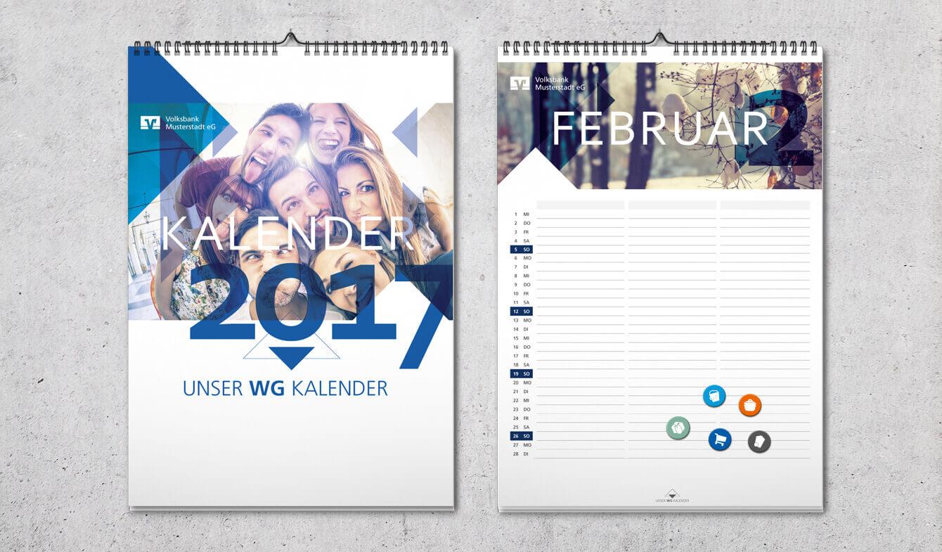 Geno-WG-Kalender: Bringt Ordnung ins Leben.