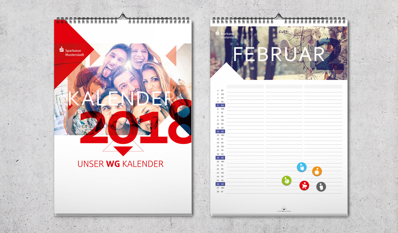 WG-Kalender: Bringt Ordnung ins Leben.