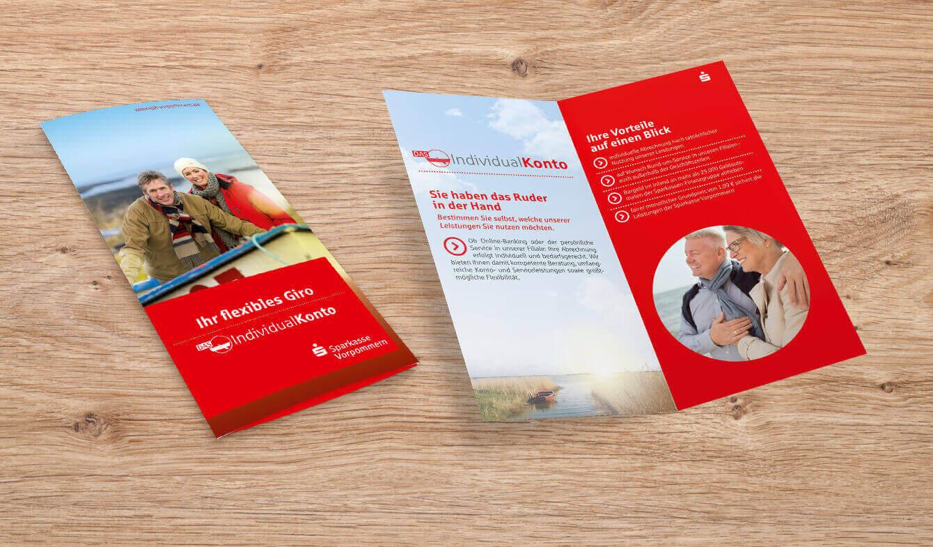 Kontoumstellung Sparkasse Vorpommern - Flyer IndividualKonto