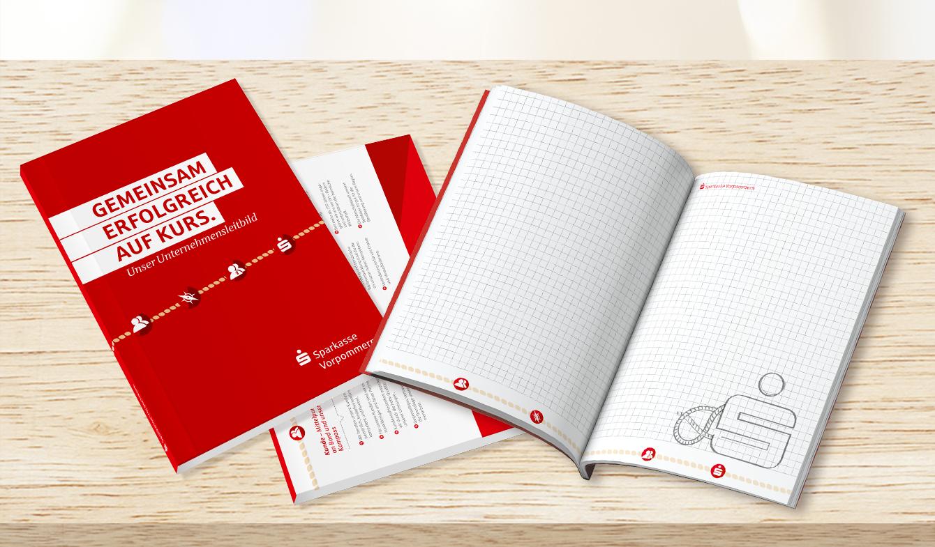 Unternehmensleitbild der Sparkasse Vorpommern - Notizbuch