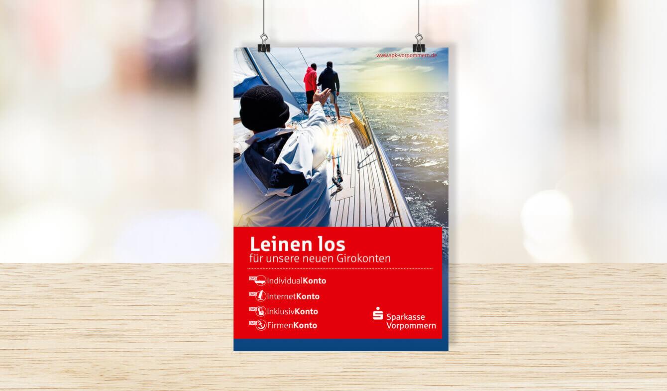Sparkasse Vorpommern - Plakat Girokontoumstellung