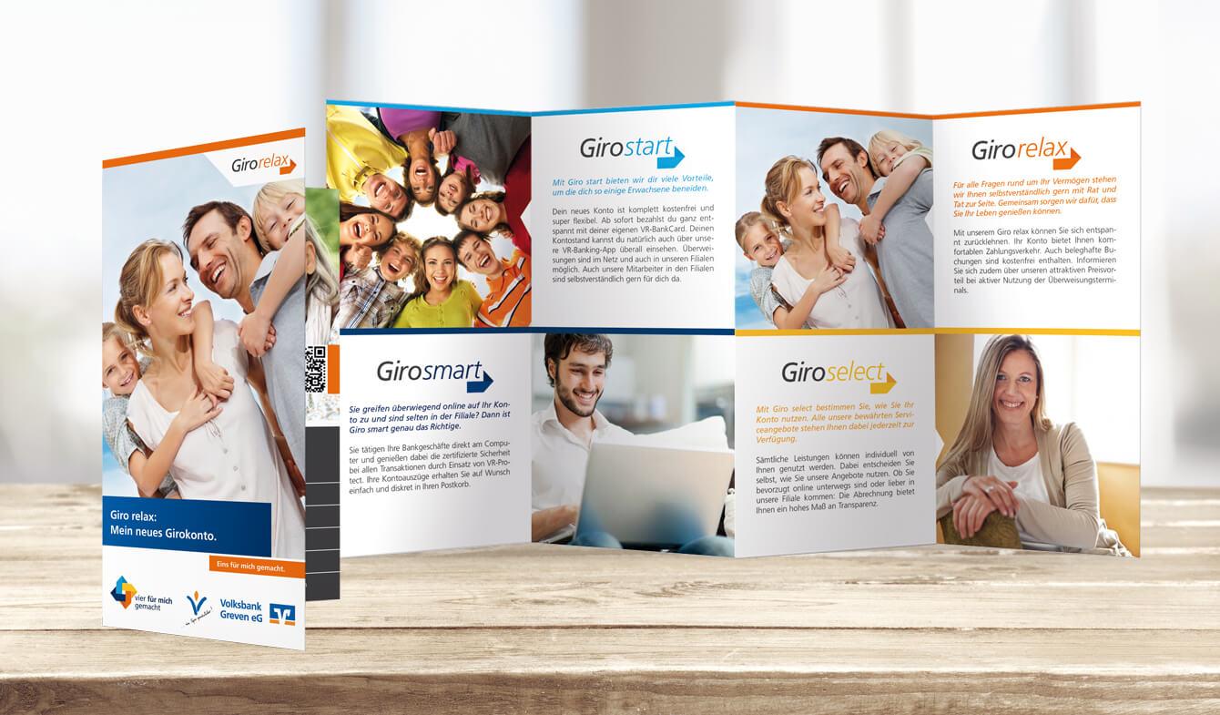 Volksbank Greven Kontoumstellung Flyer