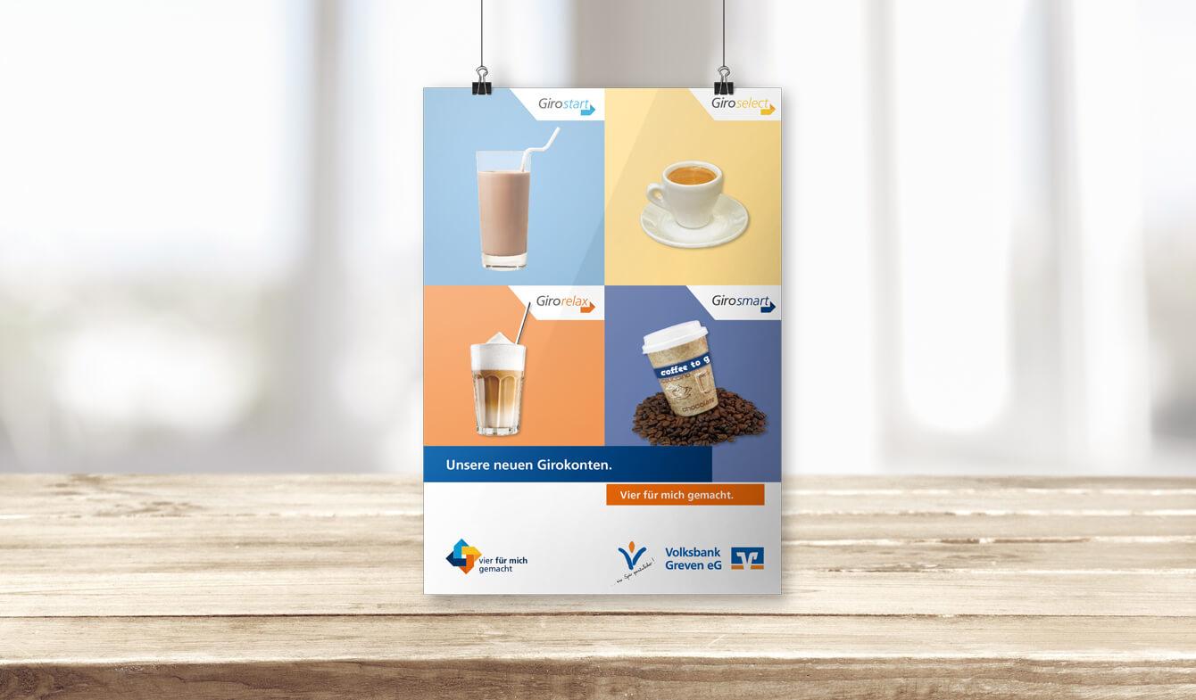Volksbank Greven Kontoumstellung Plakat