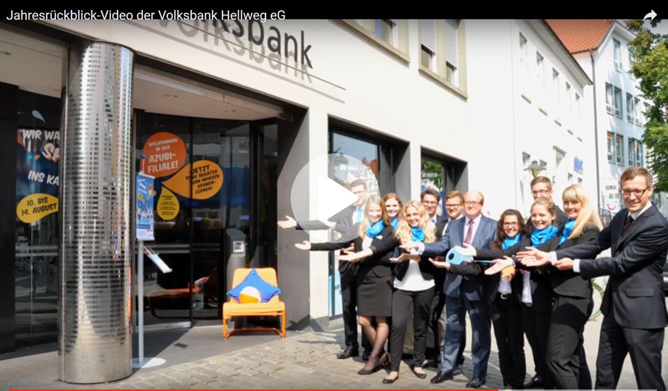Jahresrückblick-Video der Volksbank Hellweg