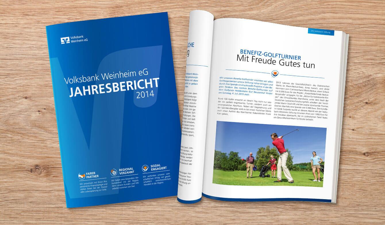 Volksbank Weinheim eG - Jahresbericht 2014 Premium