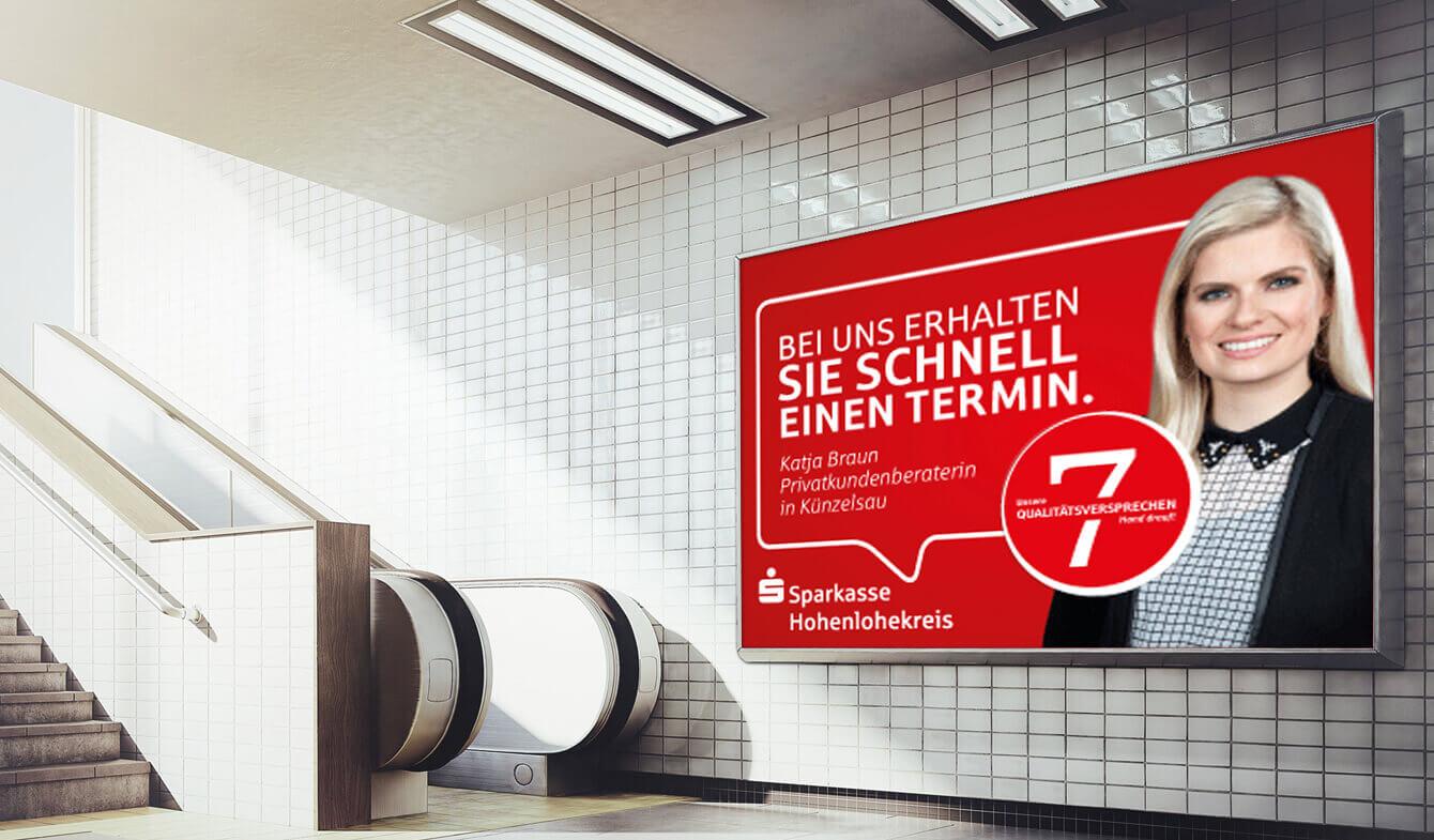 Imagekampagne der Sparkasse Hohenlohekreis - Großfläche