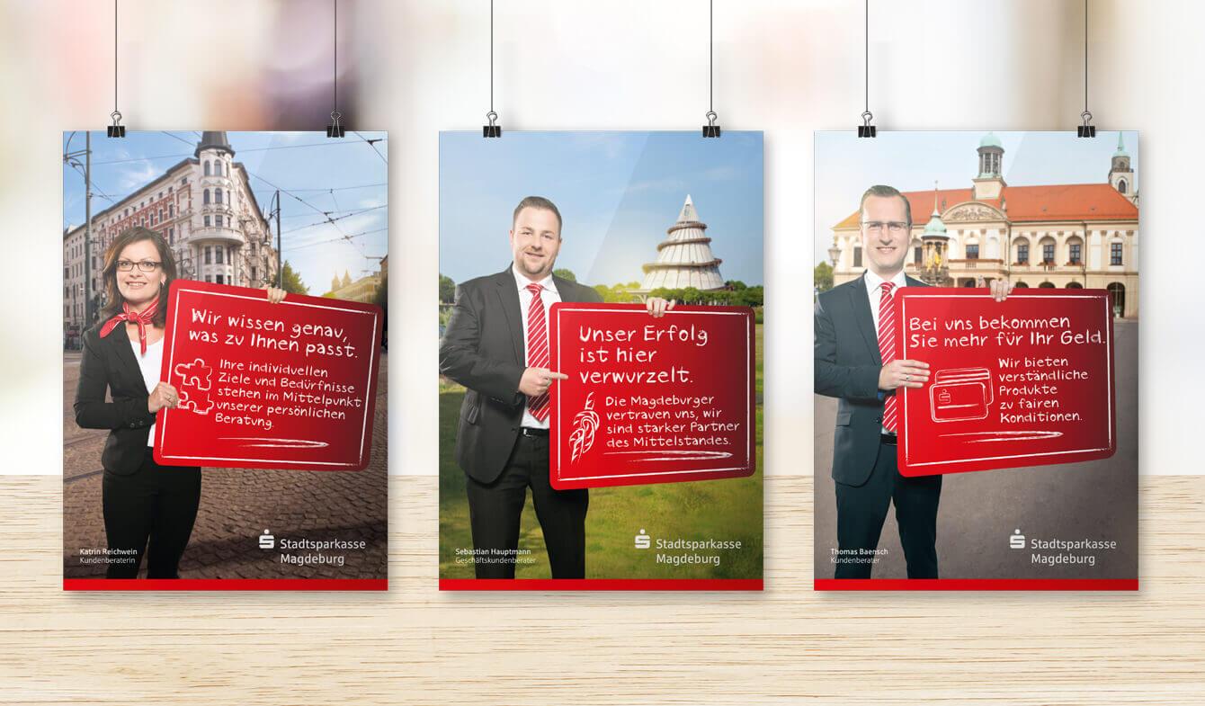 Imagekampagne der Stadtsparkasse Magdeburg - Plakate