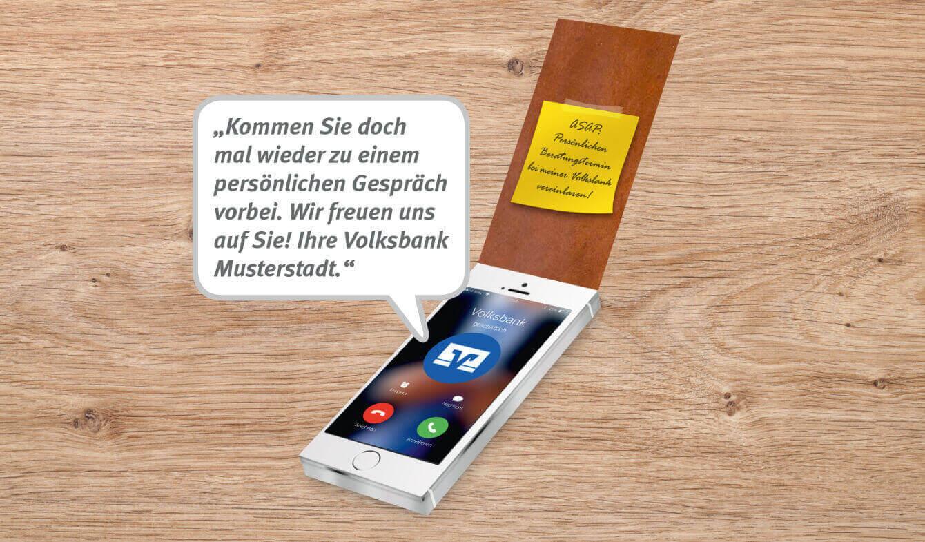 Soundmailing Firmenkunden im Genobanken-Design