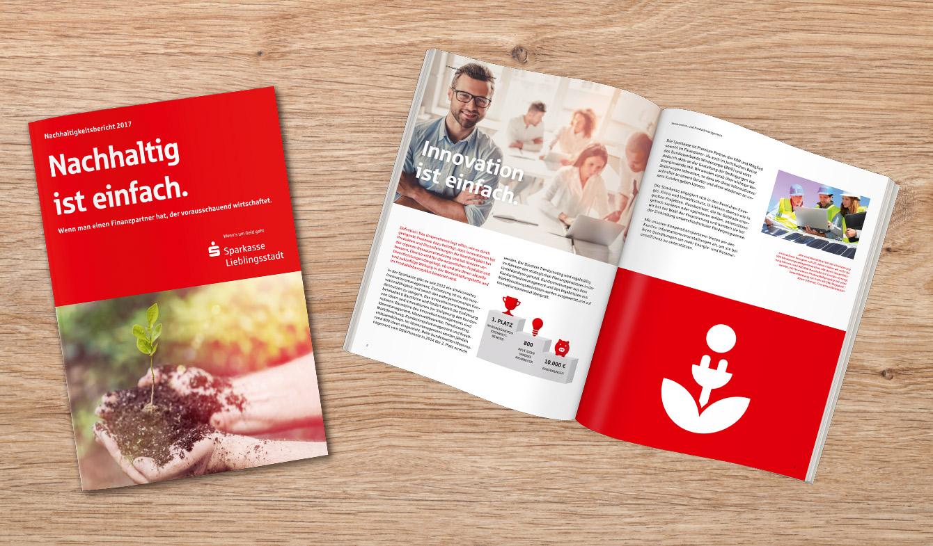 Nachhaltigkeitsbericht im klassischen Sparkassen-Corporate Design