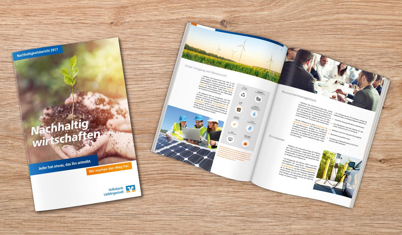 Nachhaltigkeitsbericht im Genobanken-Design