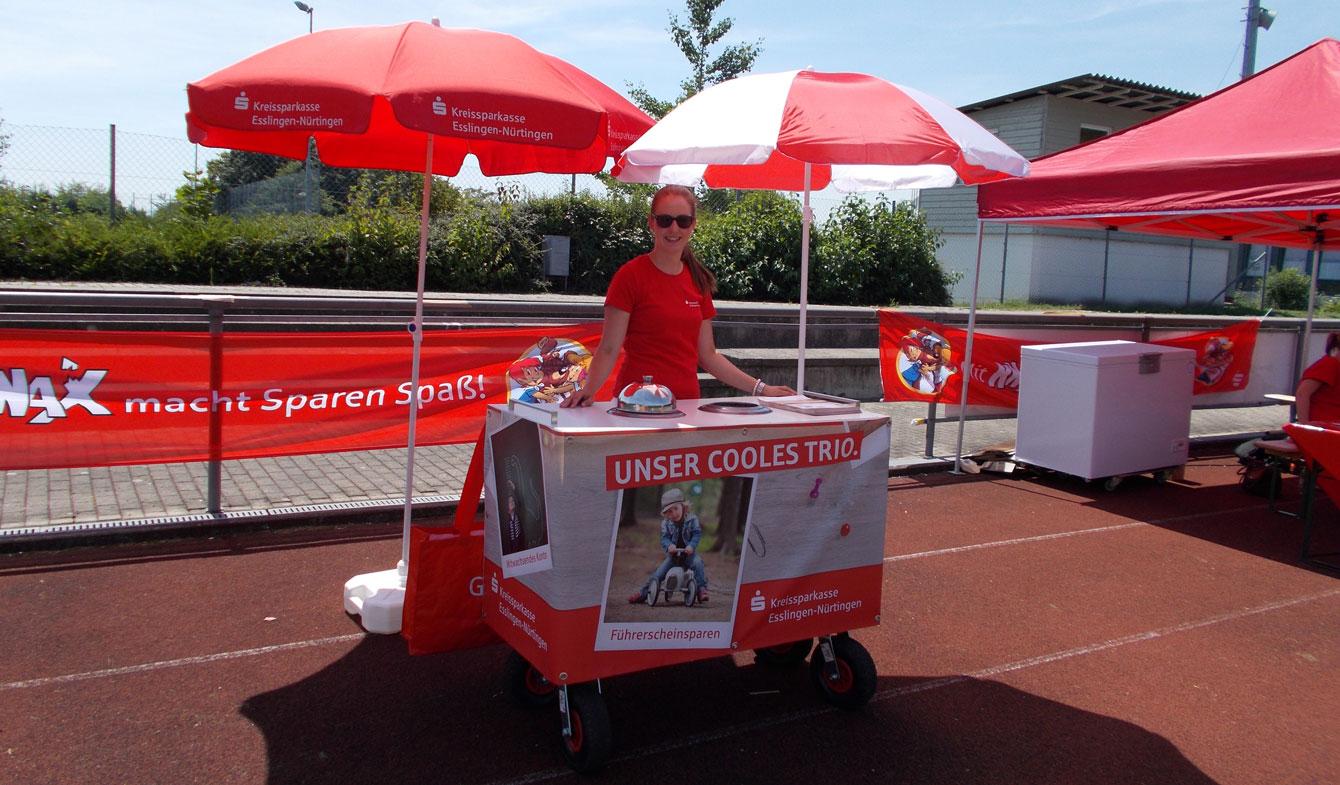 Kreissparkasse Esslingen Eiswagen Promotion
