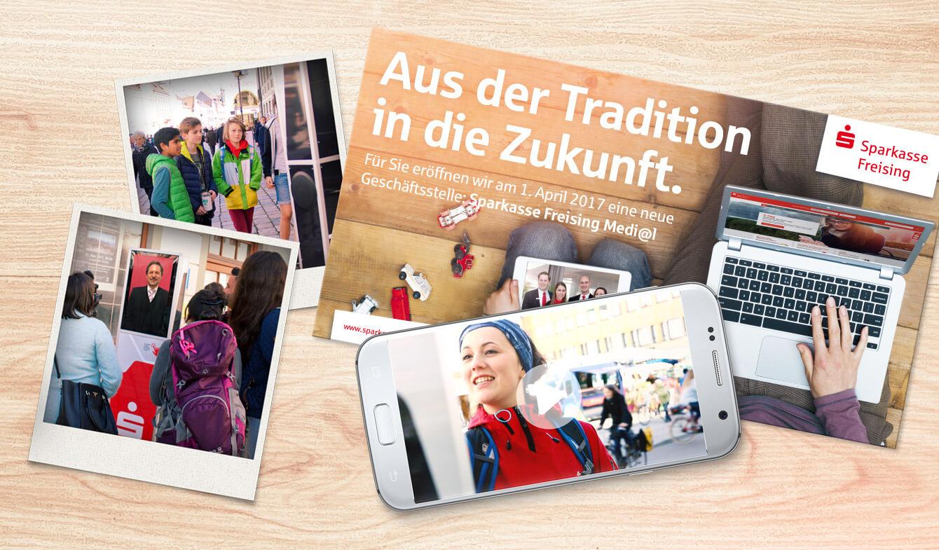 Kick-off-Kampagne für neue Mediale Geschäftsstelle der Sparkasse Freising