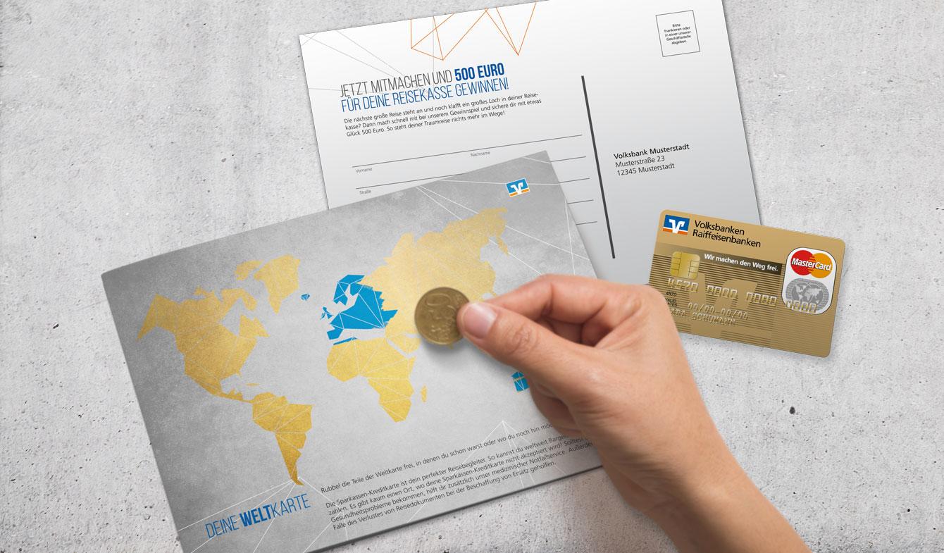 Genobanken-Selfmailer: Kreditkarte für junge Kunden