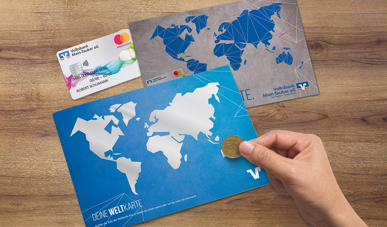 Volksbank-Main-Tauber_Weltkarte-Rubbelmotiv
