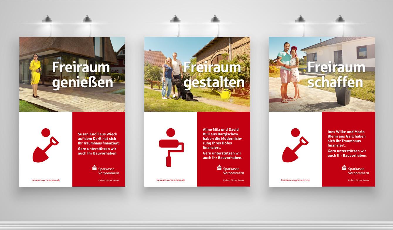SPK Vorpommern - Imagekampagen Freiraum - Immobilien