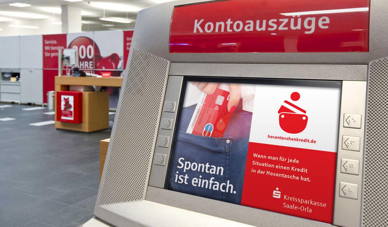 Anzeige Hosentaschenkredit Kontoauszugsdrucker