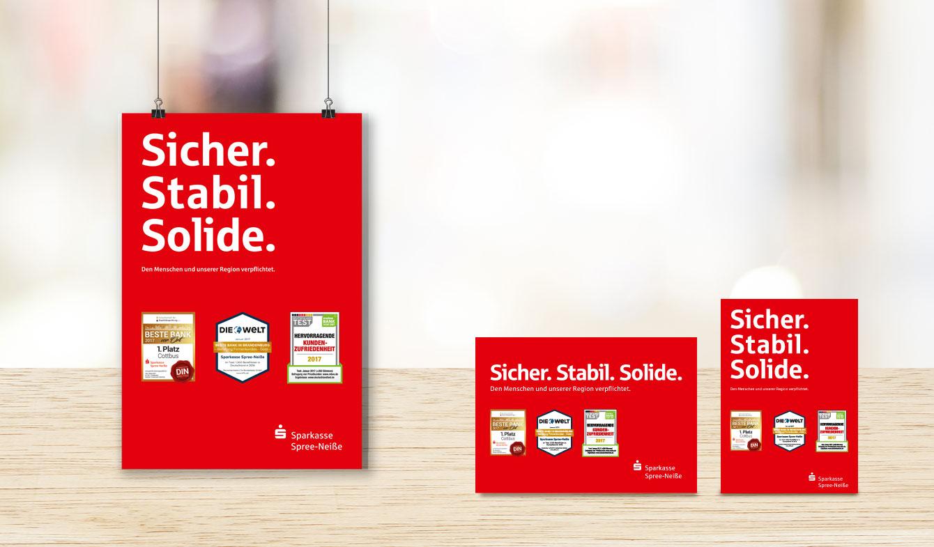 Anzeigenkampagne für die Sparkasse Spree-Neiße