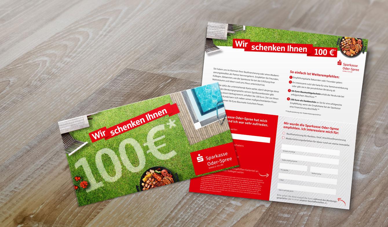 Mailing Baufinanzierung der Sparkasse Oder-Spree