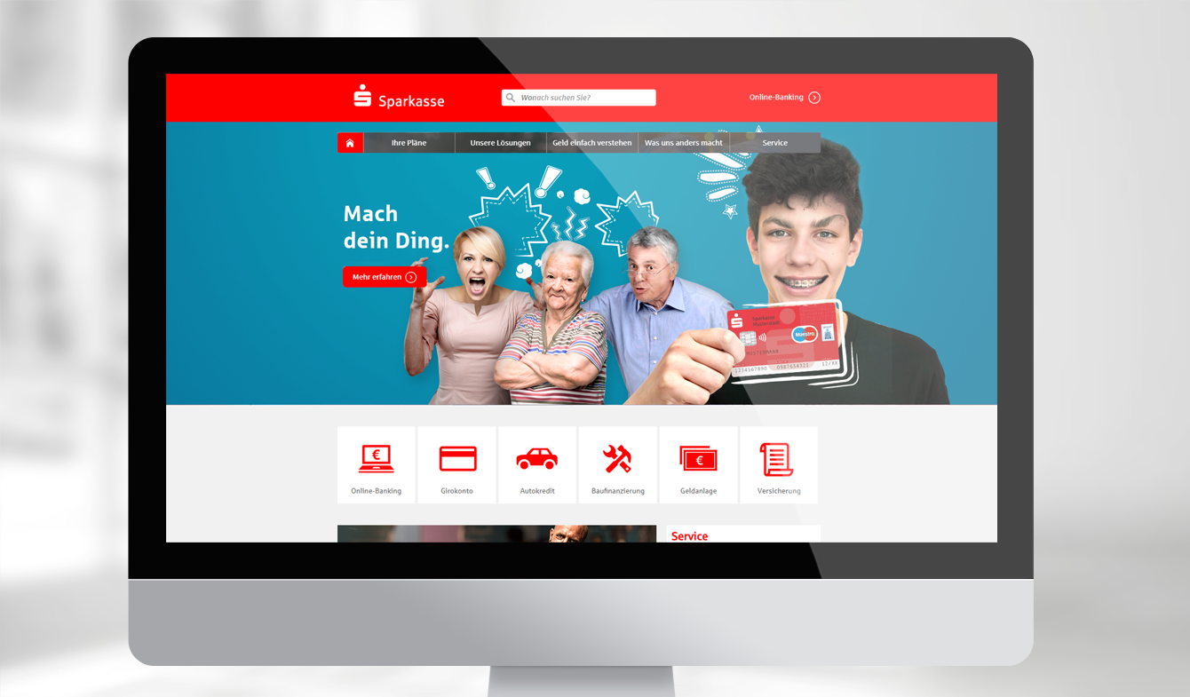 Online-Anzeigepaket für Sparkasse