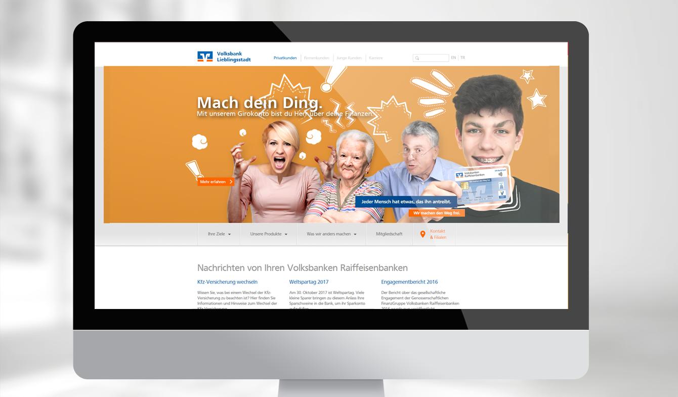Online-Anzeige für Online-Geschäftsstelle
