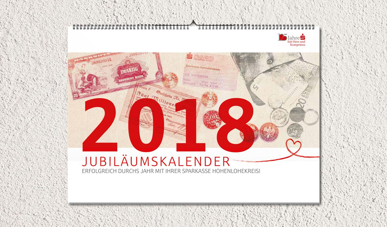 Jubiläumskalender 2018 der Sparkasse Hohenlohekreis