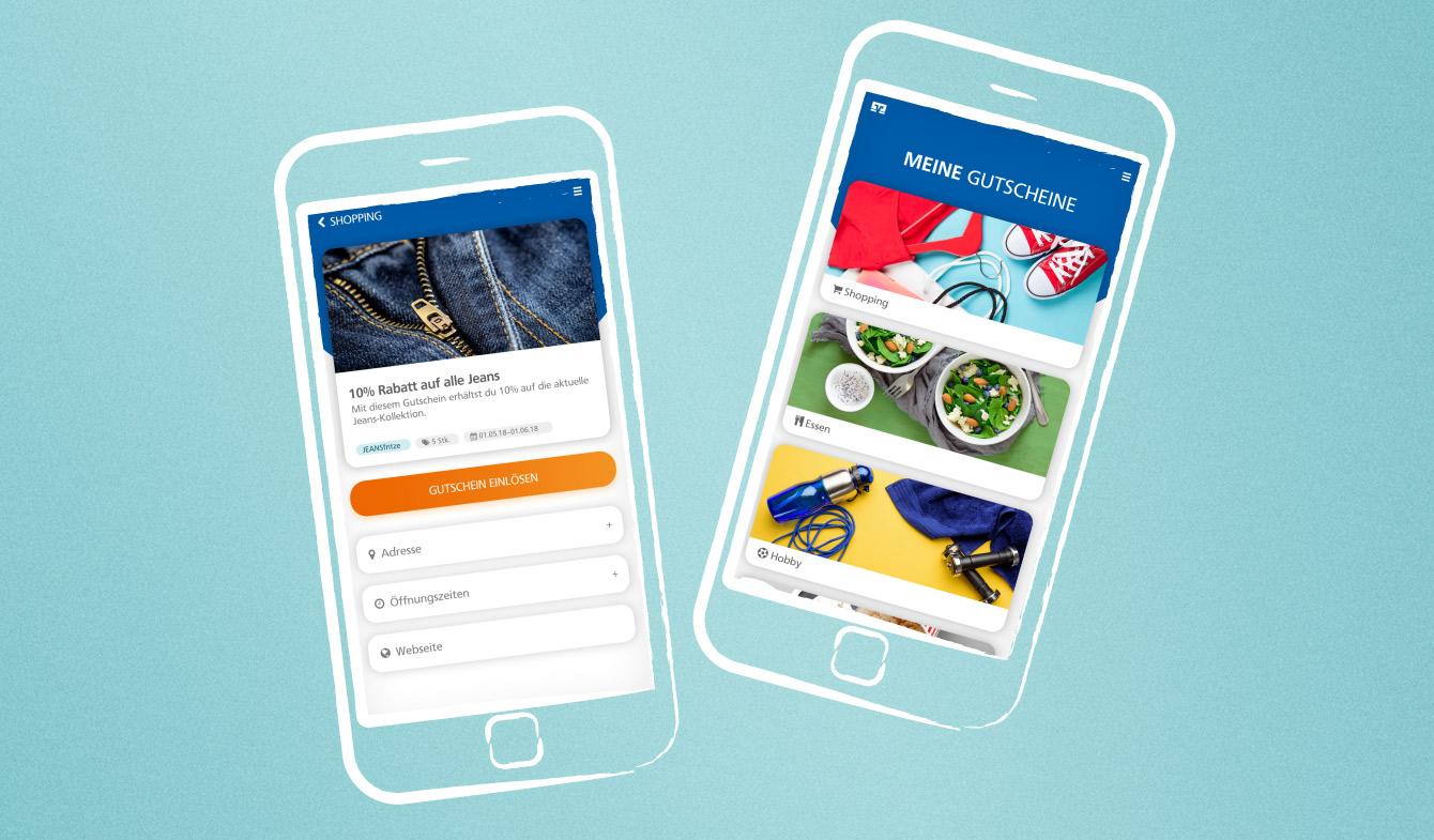 Die Gutschein-App im Geno-Look