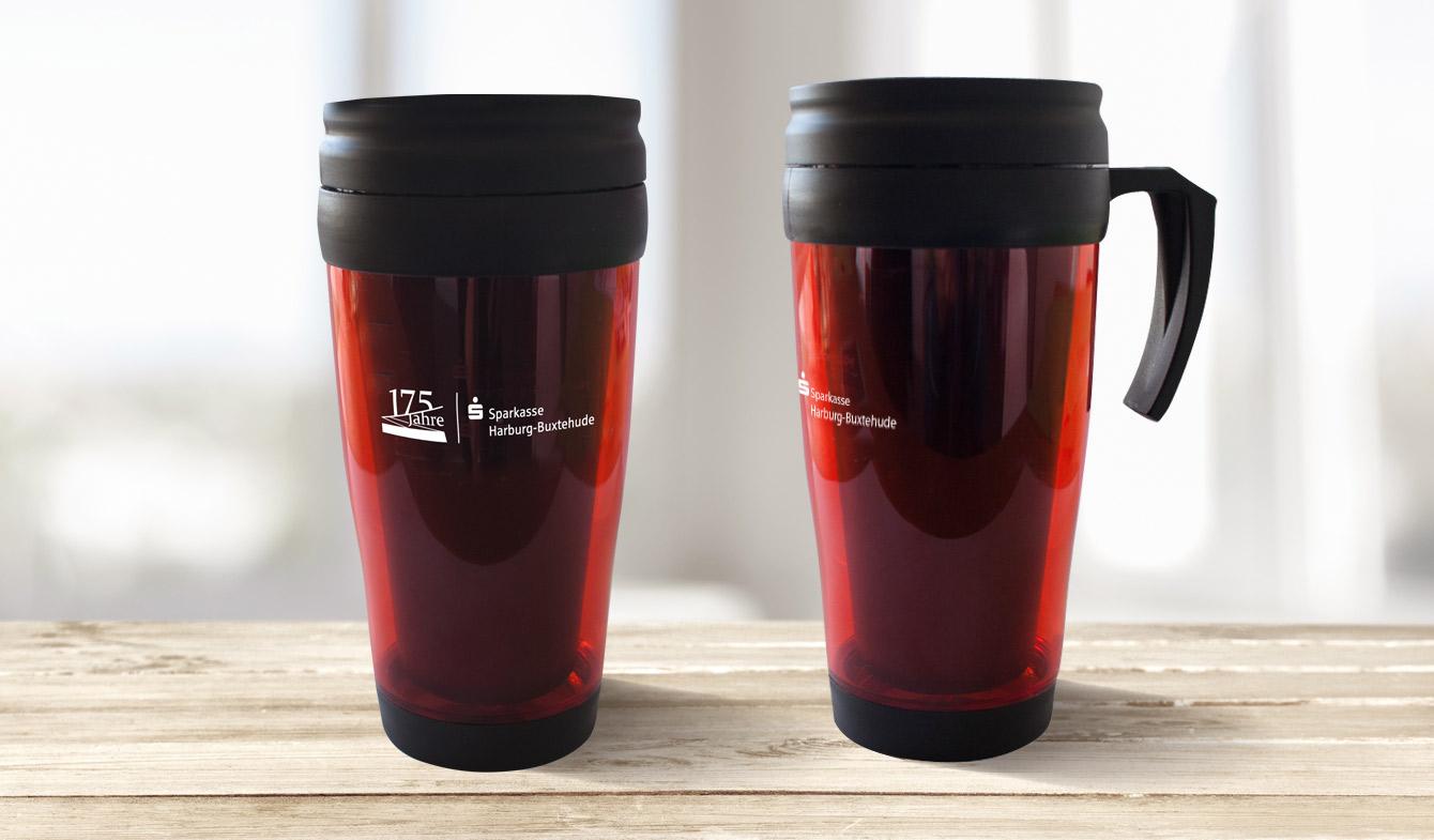 Sparkasse Harburg-Buxtehude Jubiläumskampagne Kaffeebecher