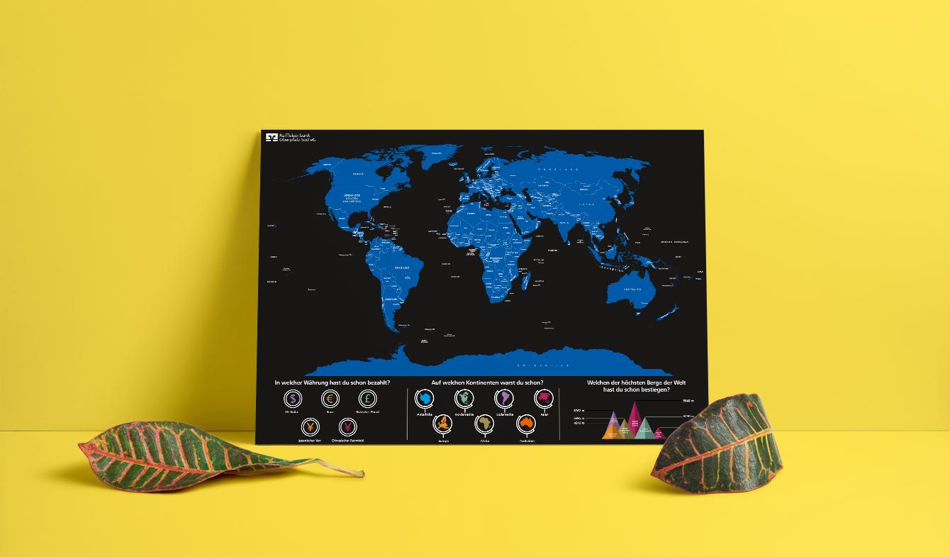 Rubbelplakat Weltkarte