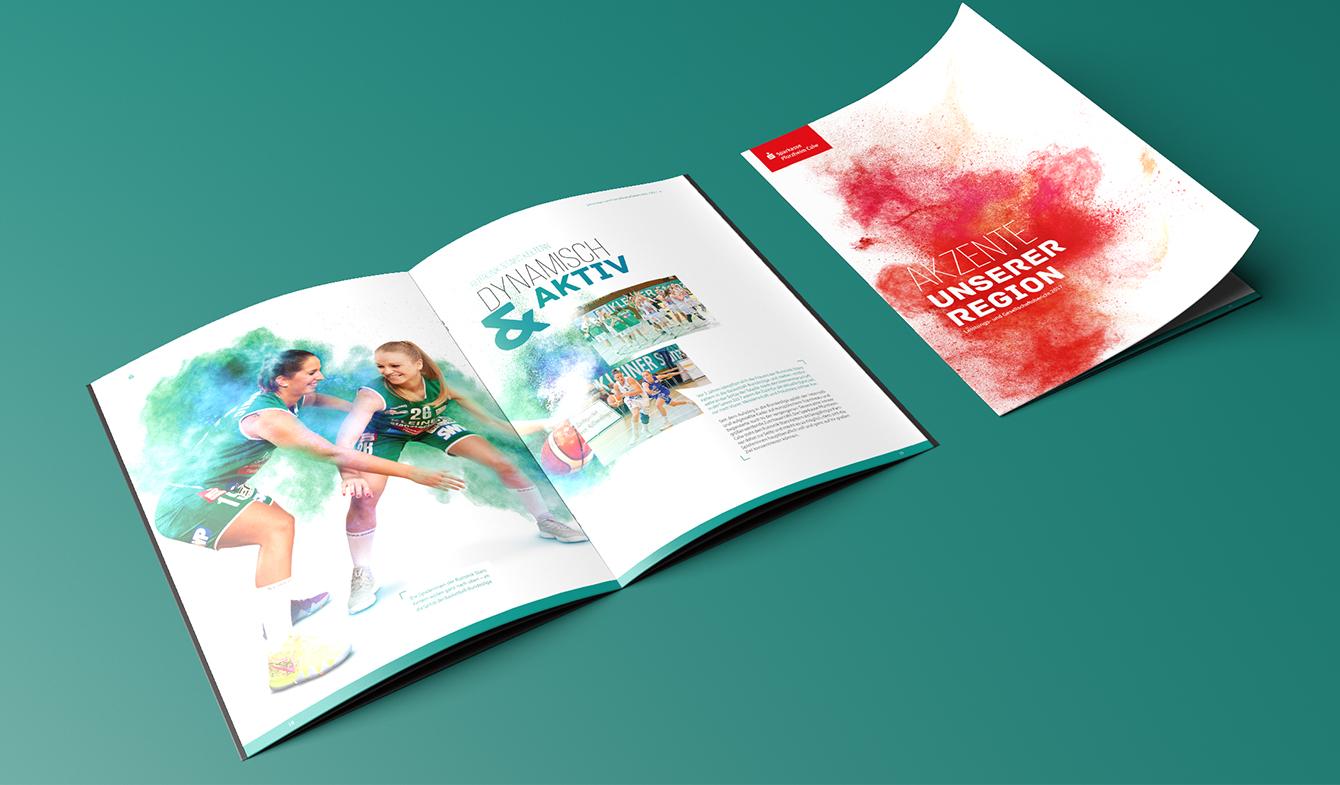 Sparkasse Pforzheim Calw Jahresbericht Farbtupfer