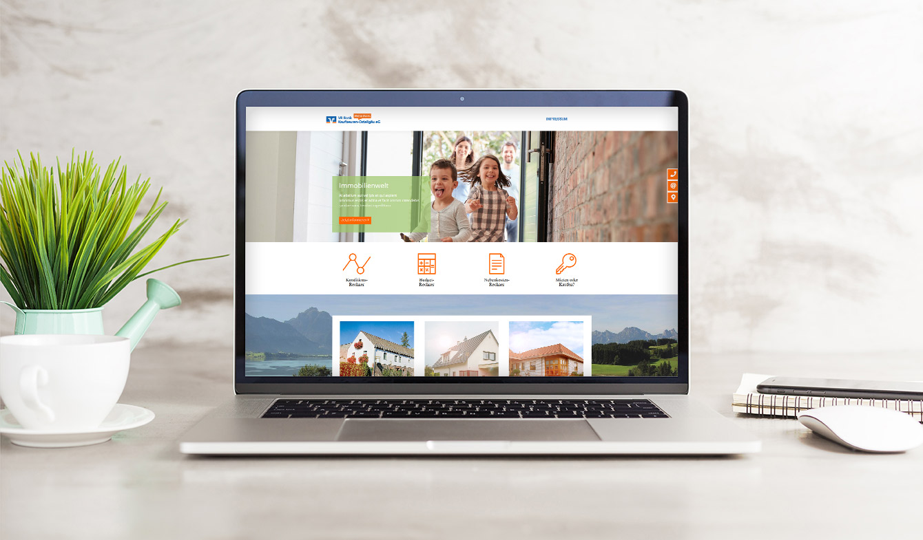 VR Bank Kaufbeuren Ostallgäu - Immobilienwebseite