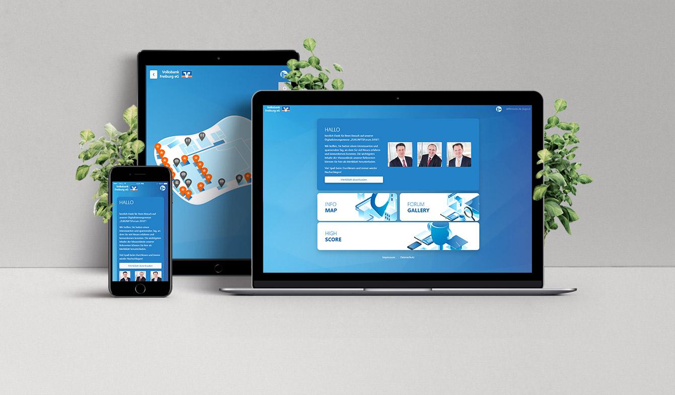 Messe-App der Volksbank Feiburg