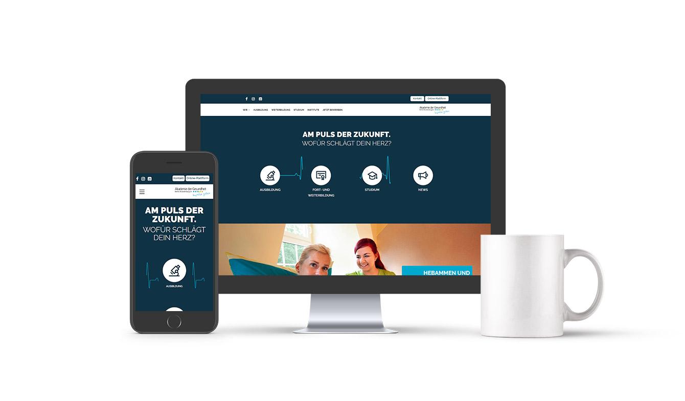 Akademie  der Gesundheit Webseiten-Relaunch