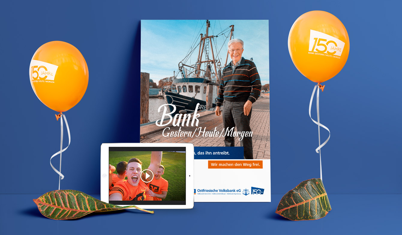 Ostfiresiche Volksbank Imageplakat und Video