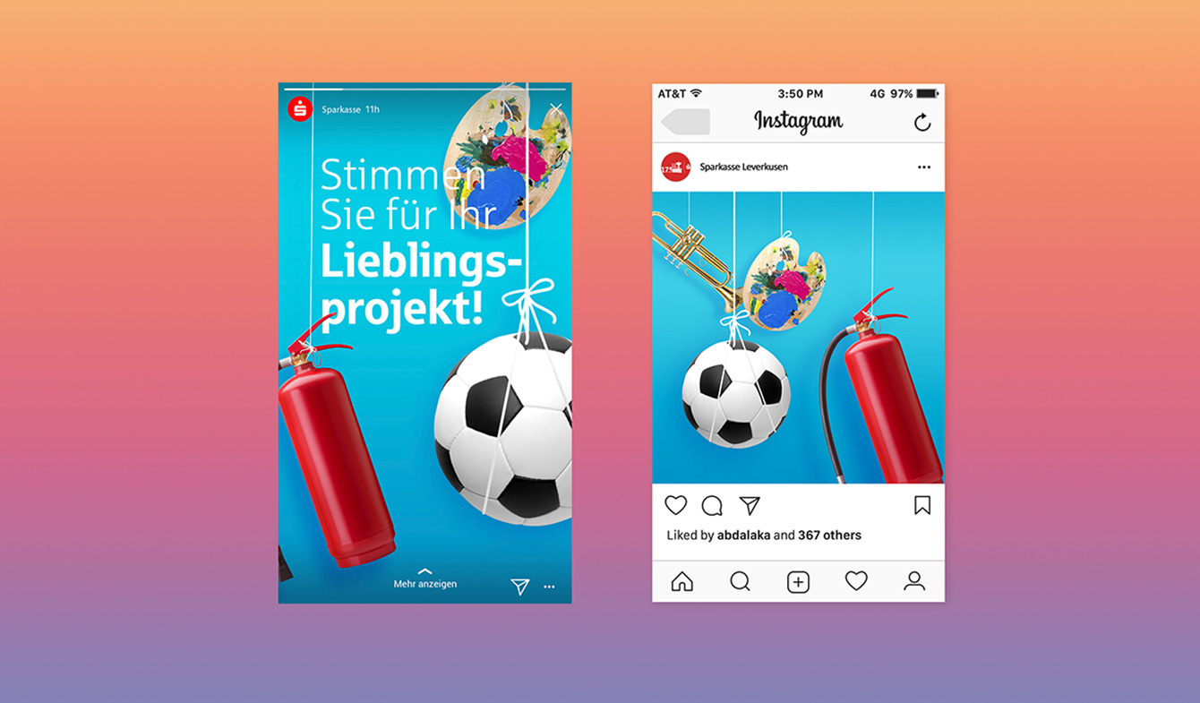Sparkasse Leverkusen - Instagram-Ads