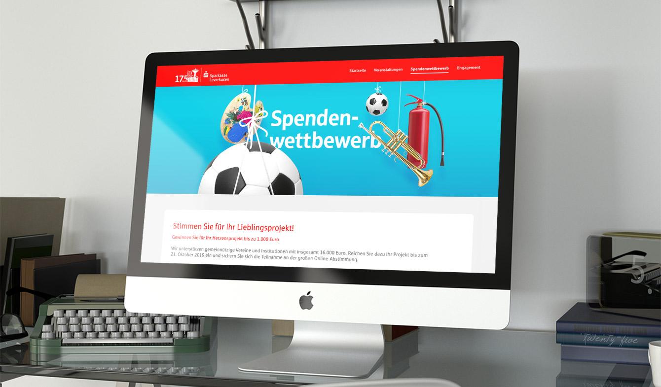 Sparkasse Leverkusen - Jubiläums-Landingpage