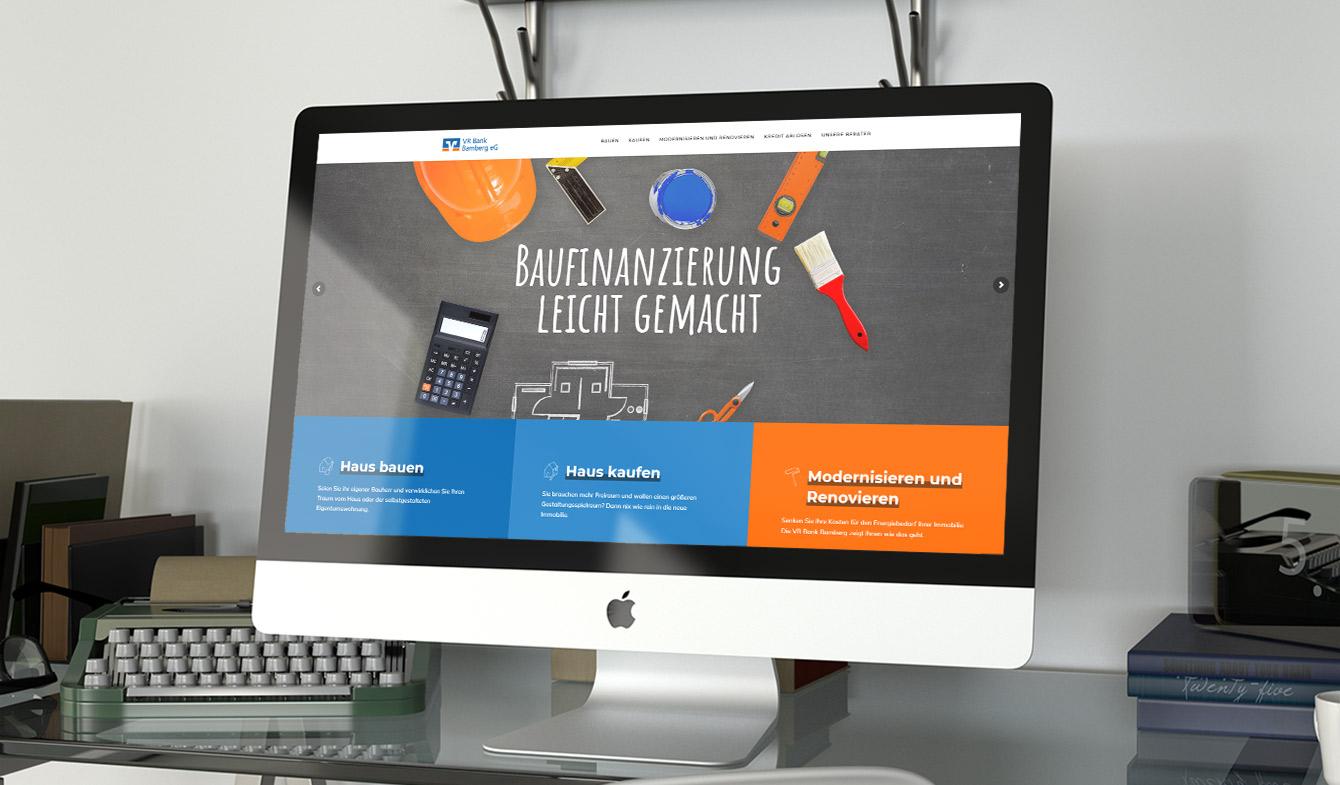 VR Bank Bamberg - Landingpage zur Baufinanzierung