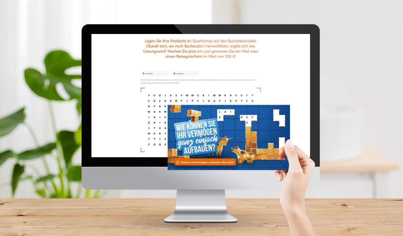 Volksbank Main-Tauber - Vermögenskampagne Mailing + Landingpage