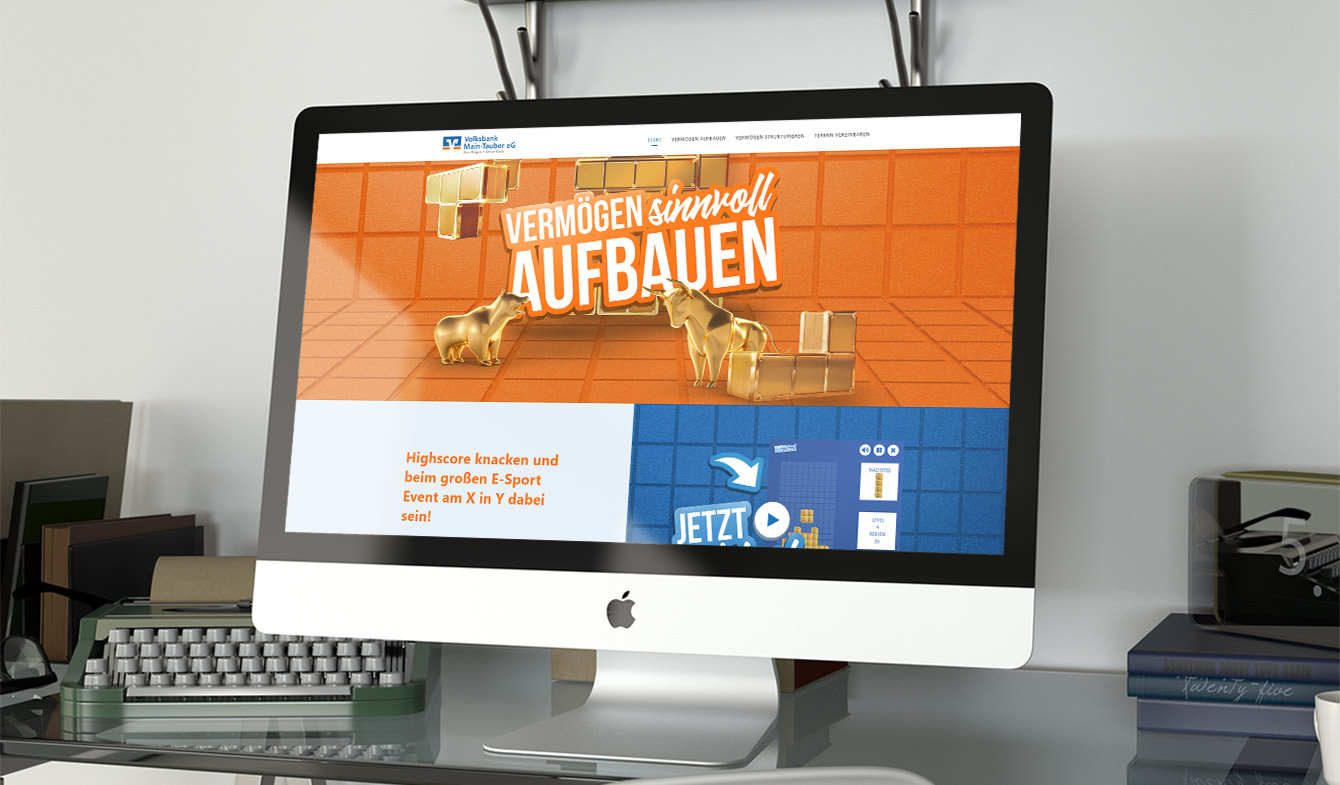 Volksbank Main-Tauber - Vertriebskampagne Landingpage