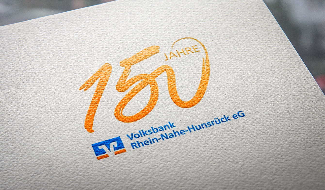 Volksbank Rhein-Nahe-Hunsrück 150-Jahre-Logo